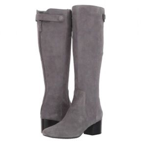 Bandolino Grey Suede Leather Riding Boots 7 1/2
